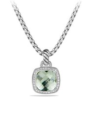 David Yurman Albion Collection Faceted Prasiolite And Diamond Pendant