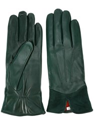 Paul Smith Stitching Detail Gloves Green