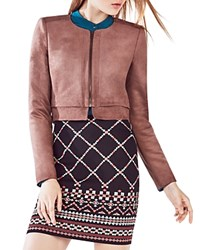 Bcbgmaxazria Duke Faux Leather Cropped Jacket Toffee