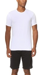 Calvin Klein Underwear Liquid Stretch Short Sleeve Untuckable Crew Tee White