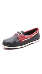 Sperry A O 2 Eye Seaglass Boat Shoes Navy Red
