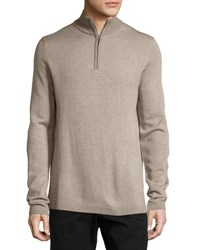 Neiman Marcus Diagonal Stripe Quarter Zip Sweater Cobbleston