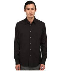 Theory Sylvain Black Men's Long Sleeve Button Up