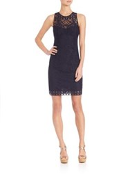 Nanette Lepore Antique Lace Sheath Dress Navy