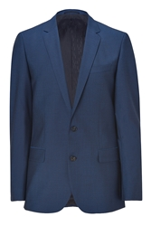 Hugo Medium Blue Stretch Virgin Wool Amaro Heise Blazer