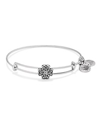 Alex And Ani Four Leaf Clover Slider Expandable Wire Bangle