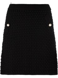 Boutique Moschino Chunky Knit Mini Skirt Black