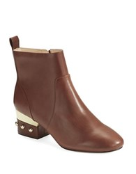 Isa Tapia Hardy Studded Ankle Boots Cognac