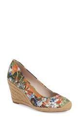 Women's Louise Et Cie 'Magdalen' Wedge Pump Blue Floral Fabric