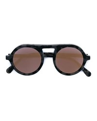 Stella Mccartney Round Chain Tortoise Sunglasses Multi Coloured Grey Black Silver Pink