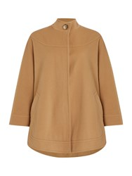Dickins And Jones Cape Coat Beige