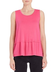 Lord And Taylor Pleated Roundneck Shell Pretty Pink
