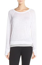 Women's Marc New York 'Luxe Super Wash' Long Sleeve Tee White