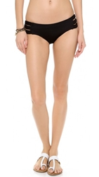 Vitamin A Chloe Triple Braid Bikini Bottoms Black