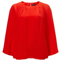 Phase Eight Safia Layered Blouse Tangerine Red
