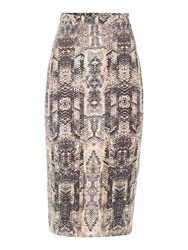 Label Lab Snake Print Jersey Skirt Multi Coloured