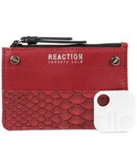 Kenneth Cole Reaction Rfid Key Coin Purse With Tracker Baked Apple