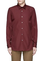 Paul Smith Contrast Cuff Lining Cotton Shirt Red