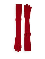 Maison Martin Margiela Ribbed Woolen Gloves Red
