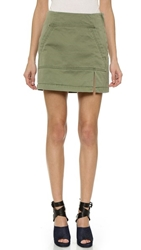 Marc By Marc Jacobs Classic Cotton Mini Skirt Moore Green