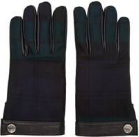 Dsquared Green Plaid Gloves