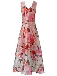 Lk Bennett L.K. Prula Graphic Floral Dress Peach