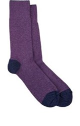 Barneys New York Mid Calf Socks Purple
