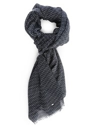 Ikks Navy All Over Pattern Scarf Blue