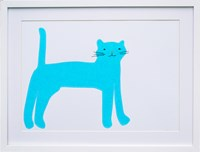 K Studio Blue Cat Wall Art