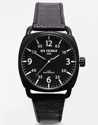 Ben Sherman Black Leather Strap Watch Wb008b