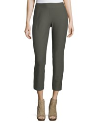 Eileen Fisher Washable Stretch Crepe Ankle Pants Oregano Green Women's