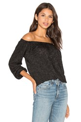 Velvet By Graham And Spencer Zinnia Off The Shoulder Long Sleeve Blouse Black