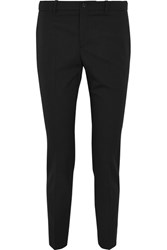 Gucci Stretch Wool And Silk Blend Straight Leg Pants Black