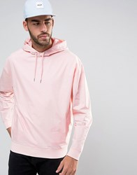 Asos Oversized Woven Hoodie In Pink Strawberry Cream