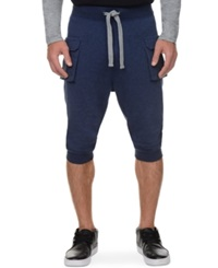 2Xist 2 X Ist Athleisure Men's Cropped Cargo Pants Denim Heather