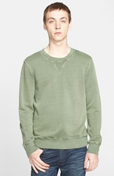 Men's Blk Dnm Crewneck Sweatshirt Faded Military Green