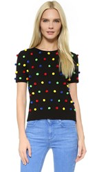 Lisa Perry Pom Pom Sweater Black Multi