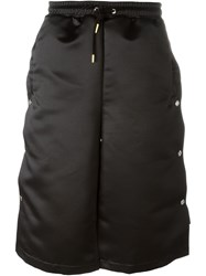 Astrid Andersen Oversize Side Button Down Drop Crotch Shorts Black