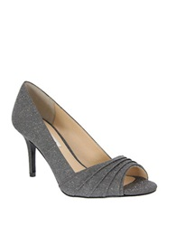 Nina Vesta Peep Toe Pumps Grey