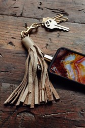 Free People Leather Keychain Iphone Charger