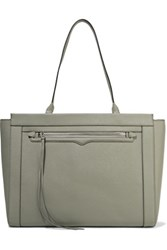 Rebecca Minkoff Monroe Textured Leather Tote Gray