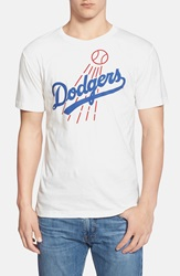 Red Jacket 'Los Angeles Dodgers Brass Tacks' T Shirt Dove White