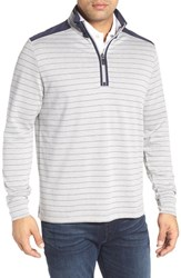 Bugatchi Men's Regular Fit Pullover Sweater Silver