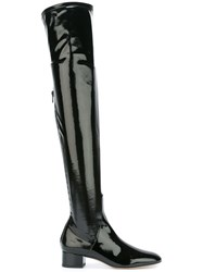 Valentino Thigh High Boots Women's Size 37.5 Black