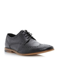 Linea Brompton Casual Brogue Lace Up Black