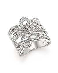 Bloomingdale's Diamond Multi Row Bow Ring In 14K White Gold 1.0 Ct. T.W.