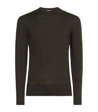Tom Ford Round Neck Sweater Male Olive