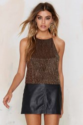 Nasty Gal Disco Technician Halter Top