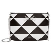 Ted Baker Adalee Bow Leather Across Body Bag Jet