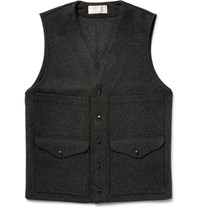 Filson Filon Cruier Mackinaw Wool Gilet Charcoal